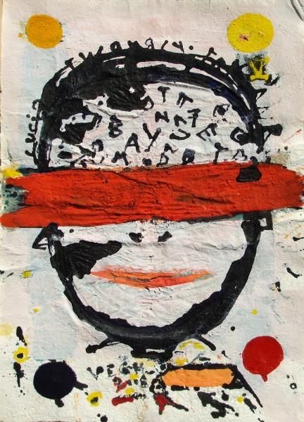 Fej (Gondolat) 2015 akril, merített papír, 70x50
