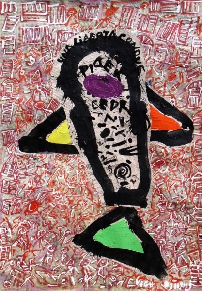 Inconnu, 2009, akril, kollázs,70x50