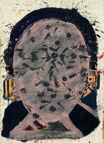 Pöttyös fej, 2015, akril, 70x50