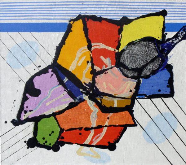 Alvó, 2016, akril, vászon, 79x89