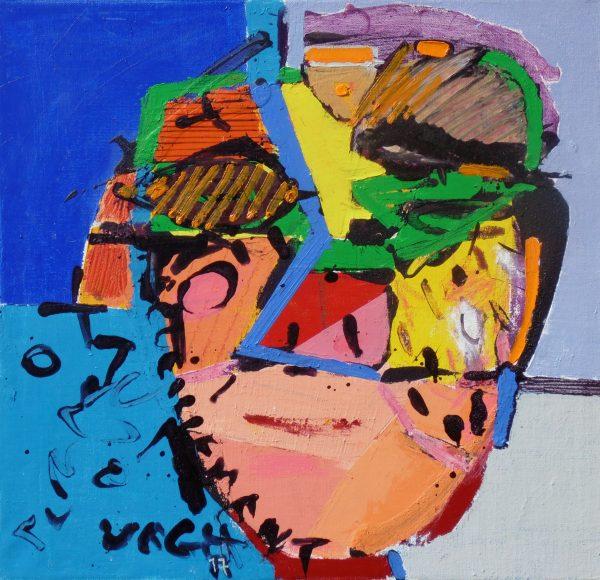 Nappali álom II., 2017, akril, olaj, vászon, 48x50