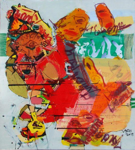 Tükröződés, 2018, akril, vászon, 108x100