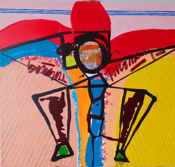 Sárkányrepülő, 2020, akril, vászon, 93x102